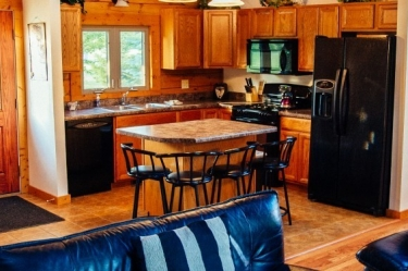Zen Luxury Cabin has a fully equipped kitchen