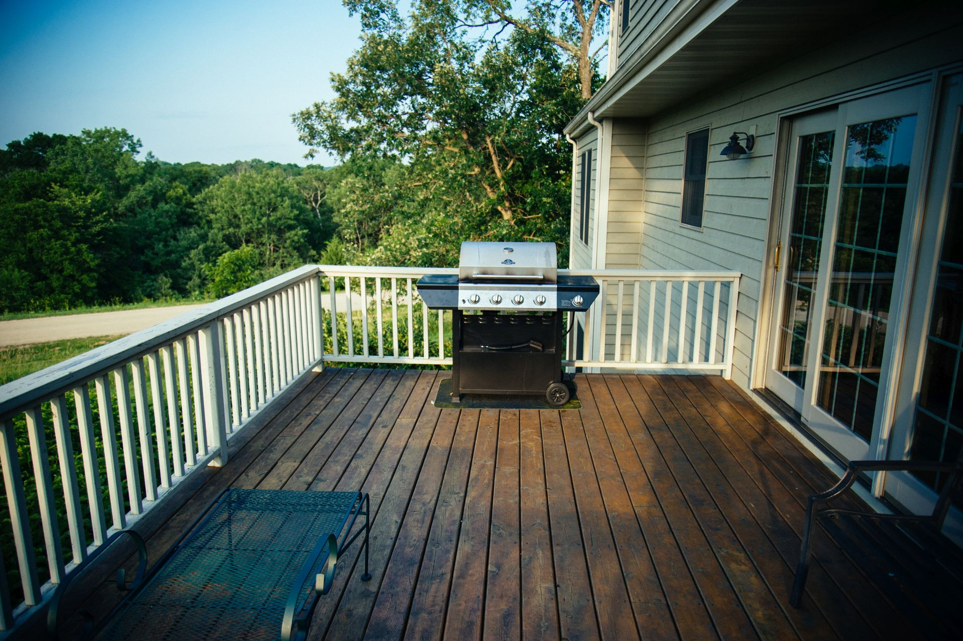 One of the outside amenities of Galena Luxury Home is the gas grill